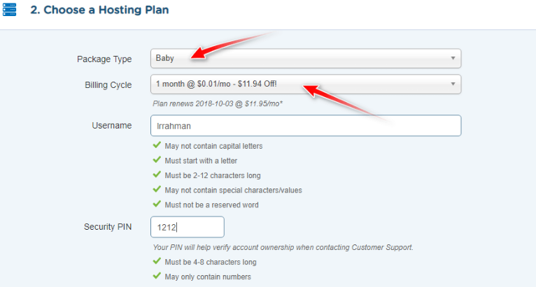 hostgator one cent hosting baby plan