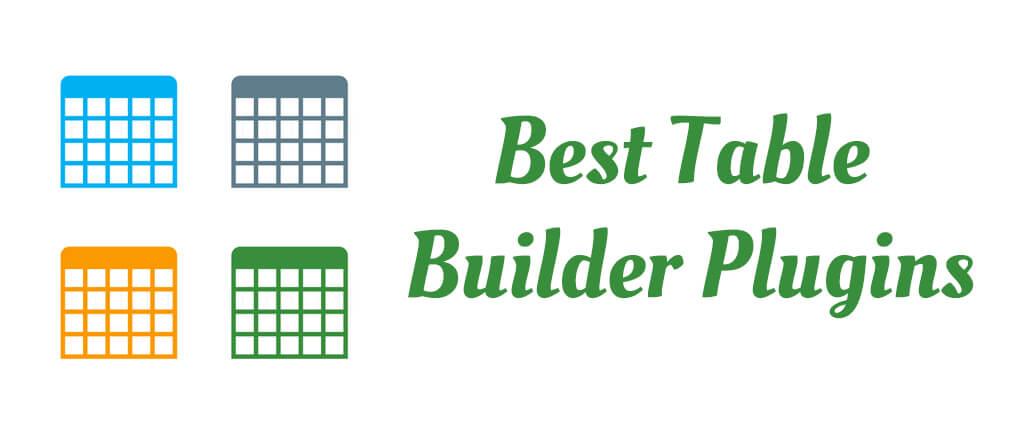Best Table Builder Plugins
