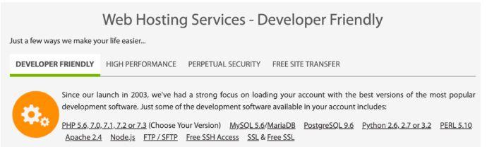 a2 hosting developer tools