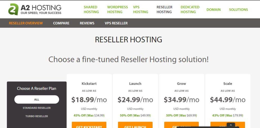 a2 reseller hosting