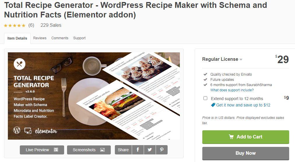 recipe generator plugin