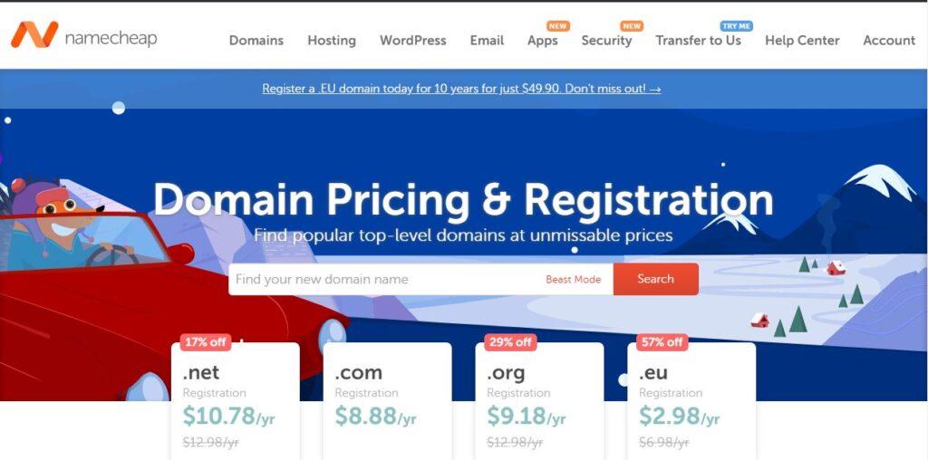 namecheap domain review