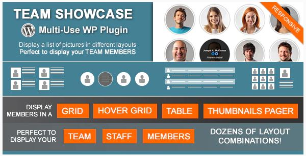 team showcase plugin