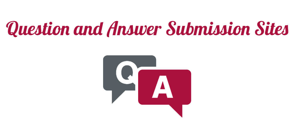 Question and Answer Submission Sites
